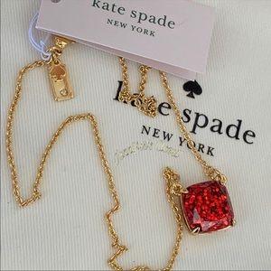 Kate Spade Glitter Square Pendant Necklace